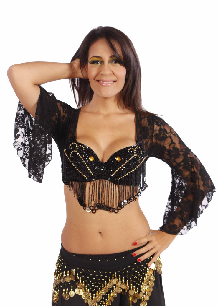 Belly Dance Tribal Lace Bra Top | NOCHE TOP