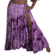 Belly Dance Tye-Dye Cotton Skirt with Side Slit | BATIK BELLYDANCE SKIRT
