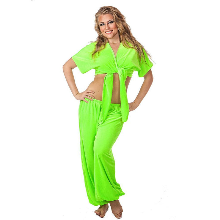 Belly Dance Velvet Pants & Top Costume Set | VELVET CRUSH