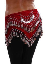 Belly Dance Velvet Zig Zag Design Hip Scarf | ZEINA'S ZIGS