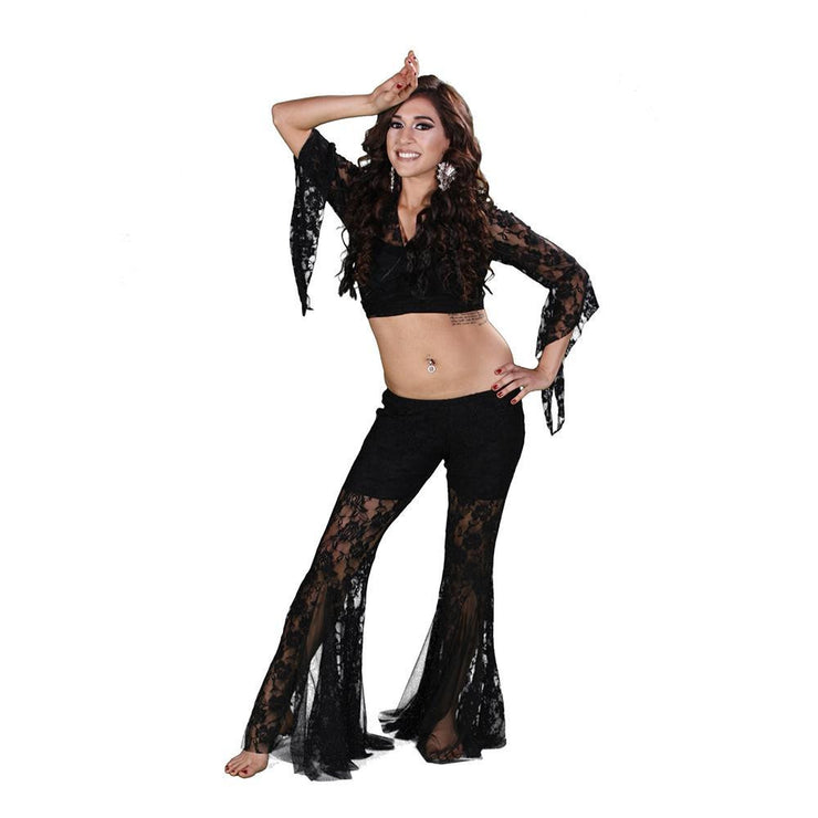 Belly Dance Women's Lace Pants & Top Costume Set | LACE IT UP