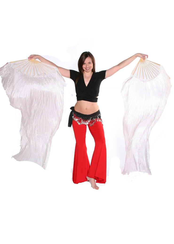 Belly Dancer Fan Veil | WHITE