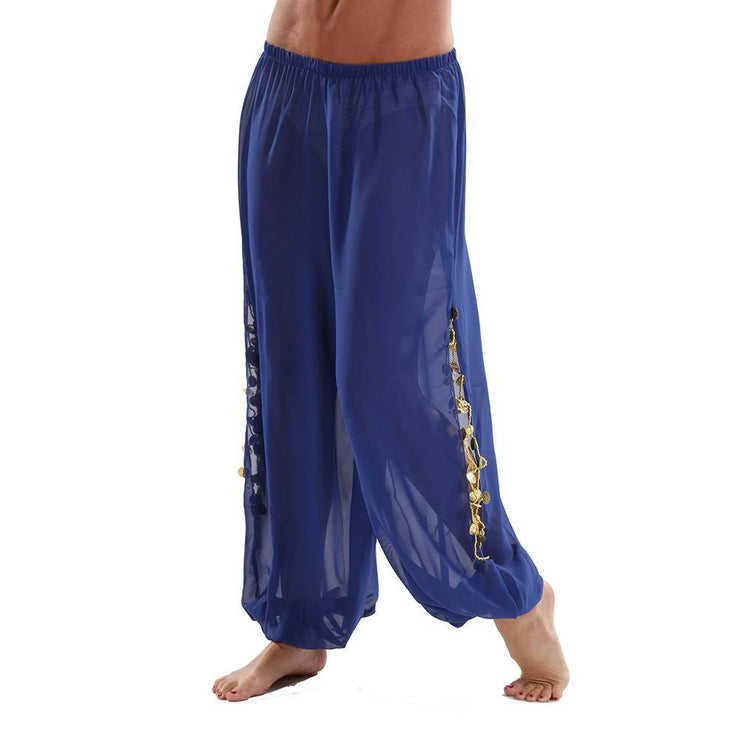 Bellydancer Chiffon Harem Pants with Side Slits | MAIDEN DANCE