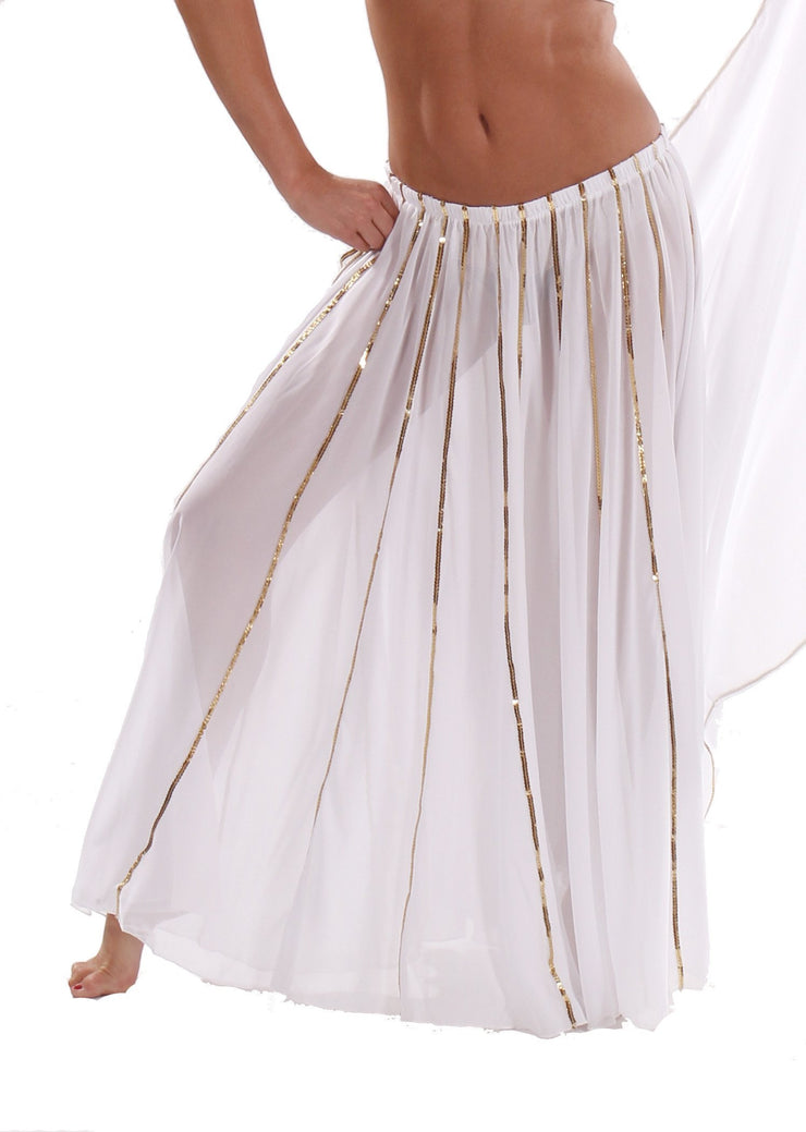 Bellydancing Chiffon 10-Yards Full Circular Gypsy Skirt