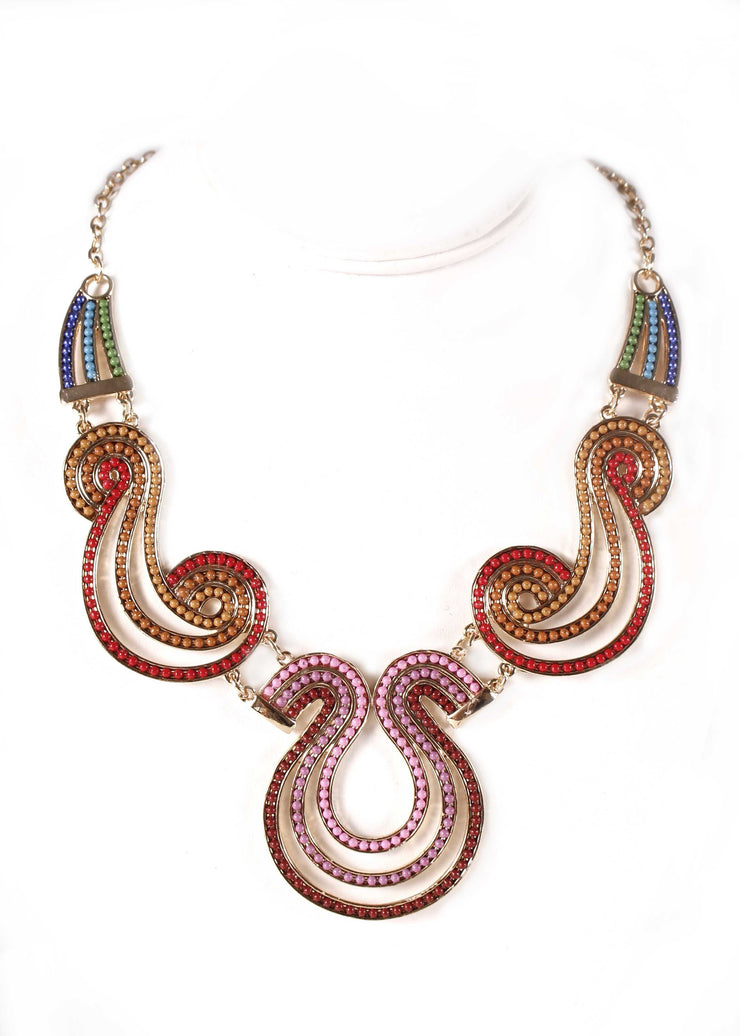 Egypt Chain Necklace | TRICOLOR SWIRLS