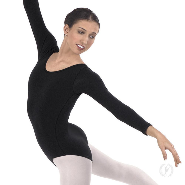 Eurotard Women's Plus Size Long Sleeve Leotard with Cotton Lycra