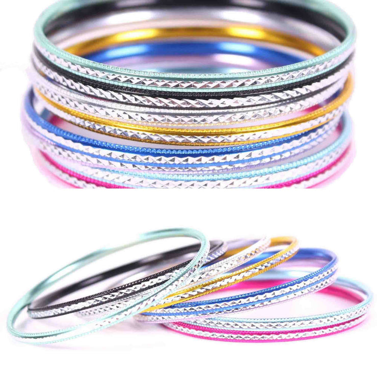 Wholesale Lot of 6 Colorful Bangle Sets