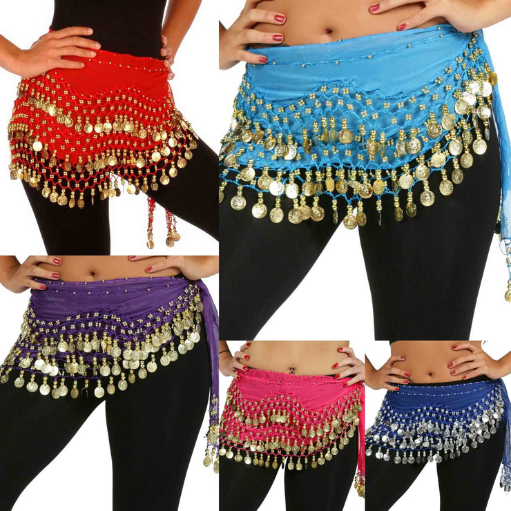 Wholesale Lots of 10 Chiffon Belly Dance Hip Scarf (Model NC)