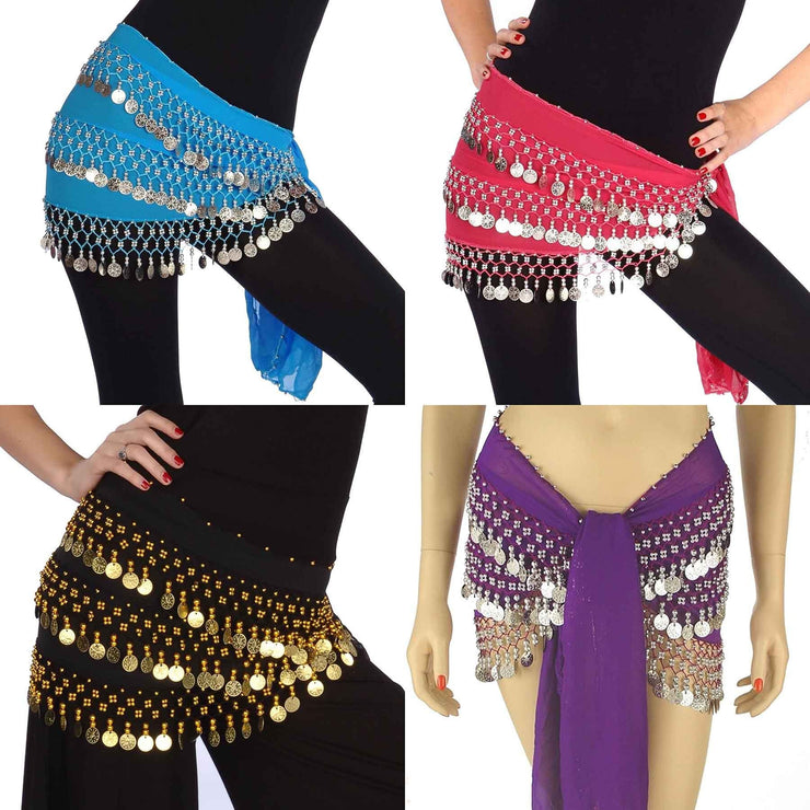 Wholesale Lots of 10 Chiffon Belly Dancing Hip Scarf (Model CC)