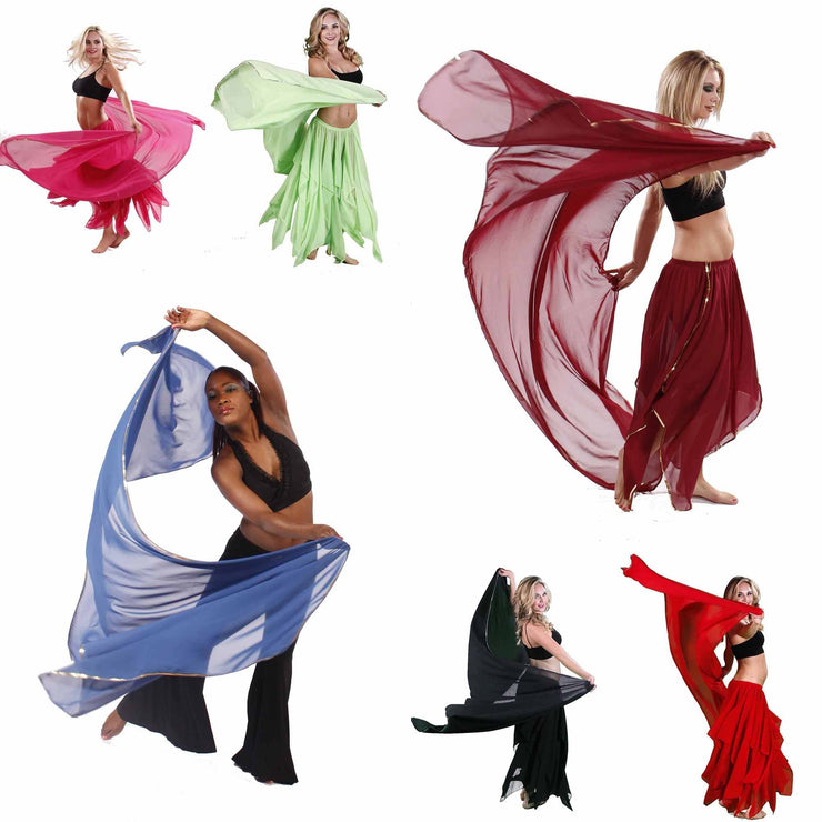 Wholesale Lots of 10 Chiffon Belly Dancing Veils