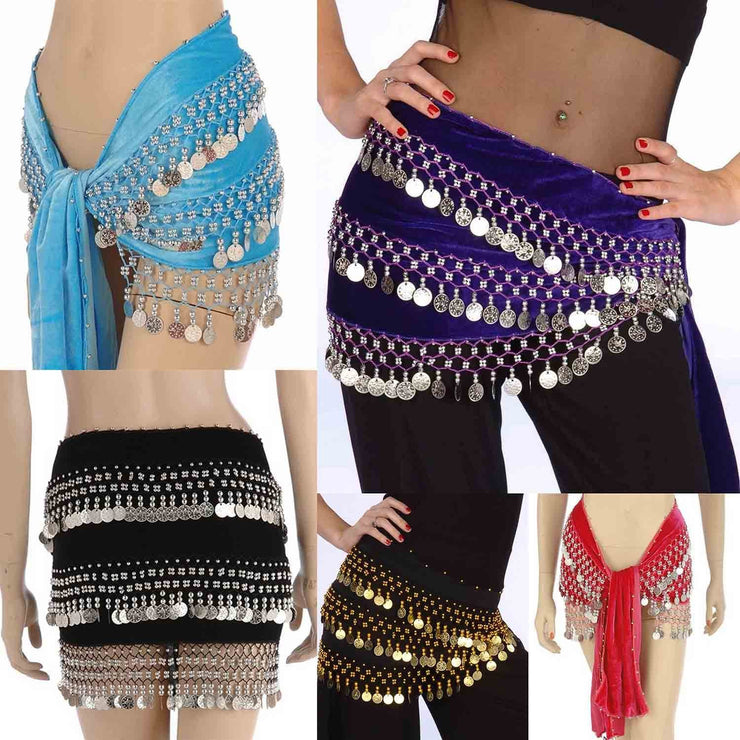 Wholesale Lots of 10 Velvet Belly Dance Hip Scarf (Model CV)