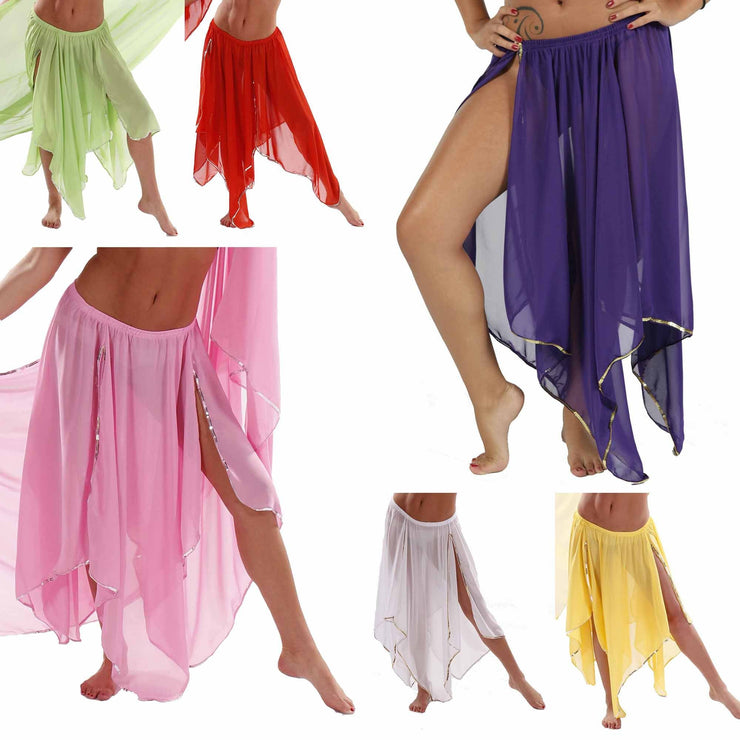 Wholesale Lots of 6 Chiffon 4-Panel Skirts