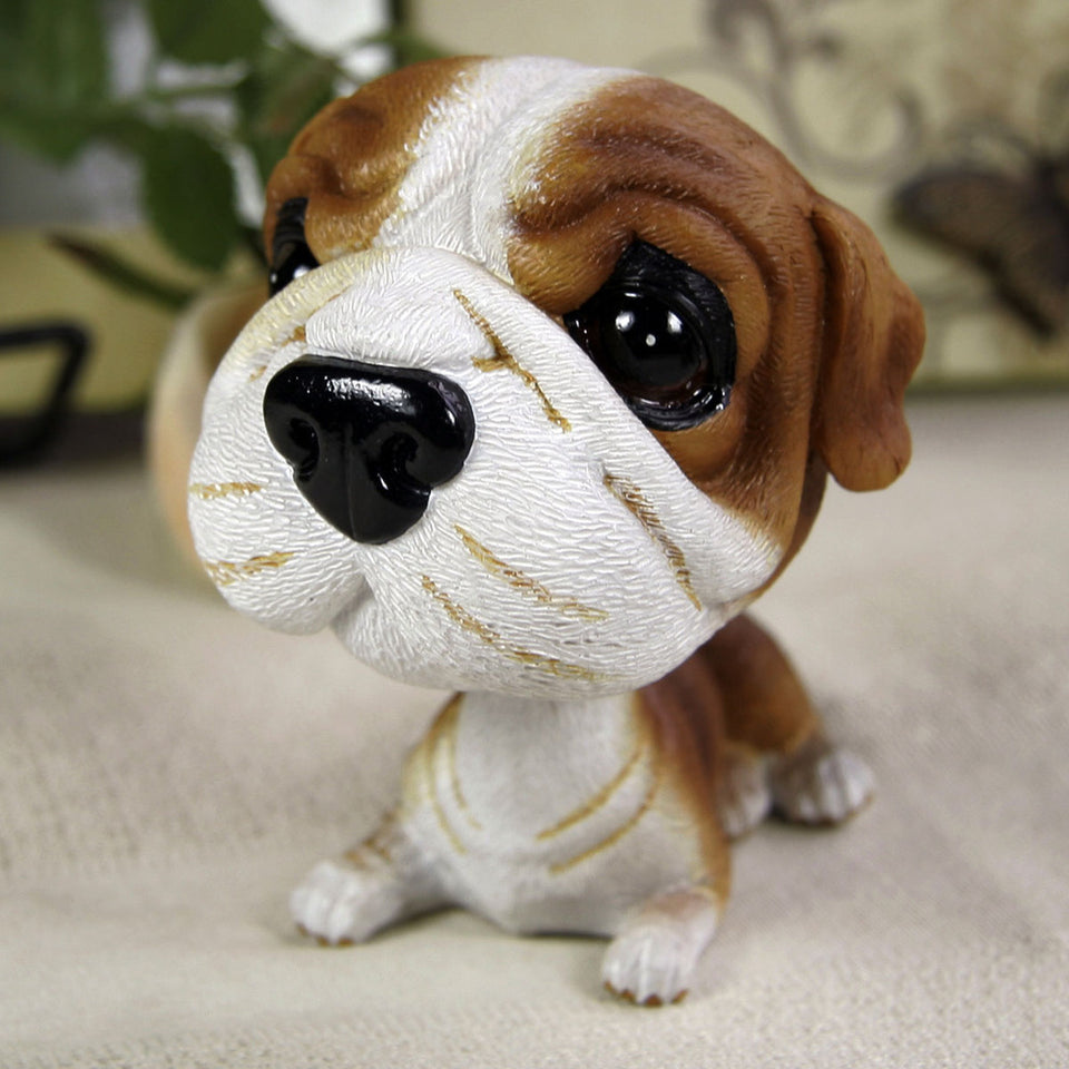 Head Shaking Puppy Figurine for Car