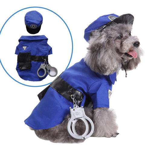Policeman/Prisoner Dog Halloween Costume
