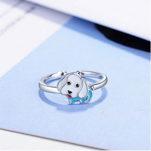 Cute Poodle Puppy Ring