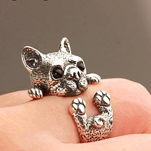 Sterling Silver Chihuahua Ring