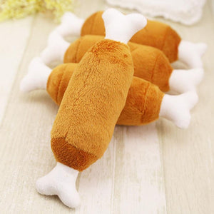 Interactive Plush Chicken Leg for dogs