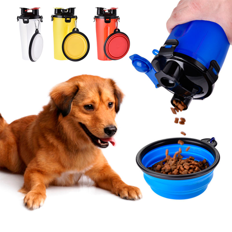 2in1 Dogs Food Water travel bowl