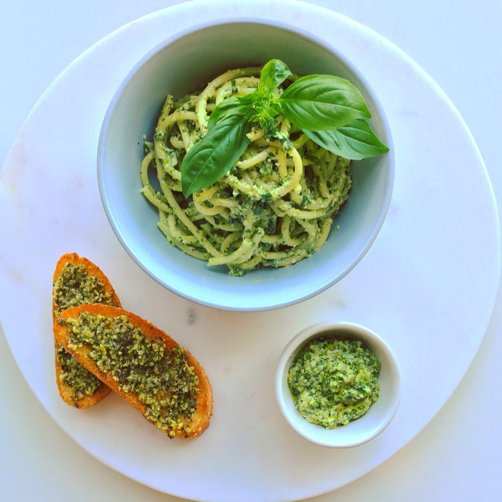 Hemp pesto in a bowl