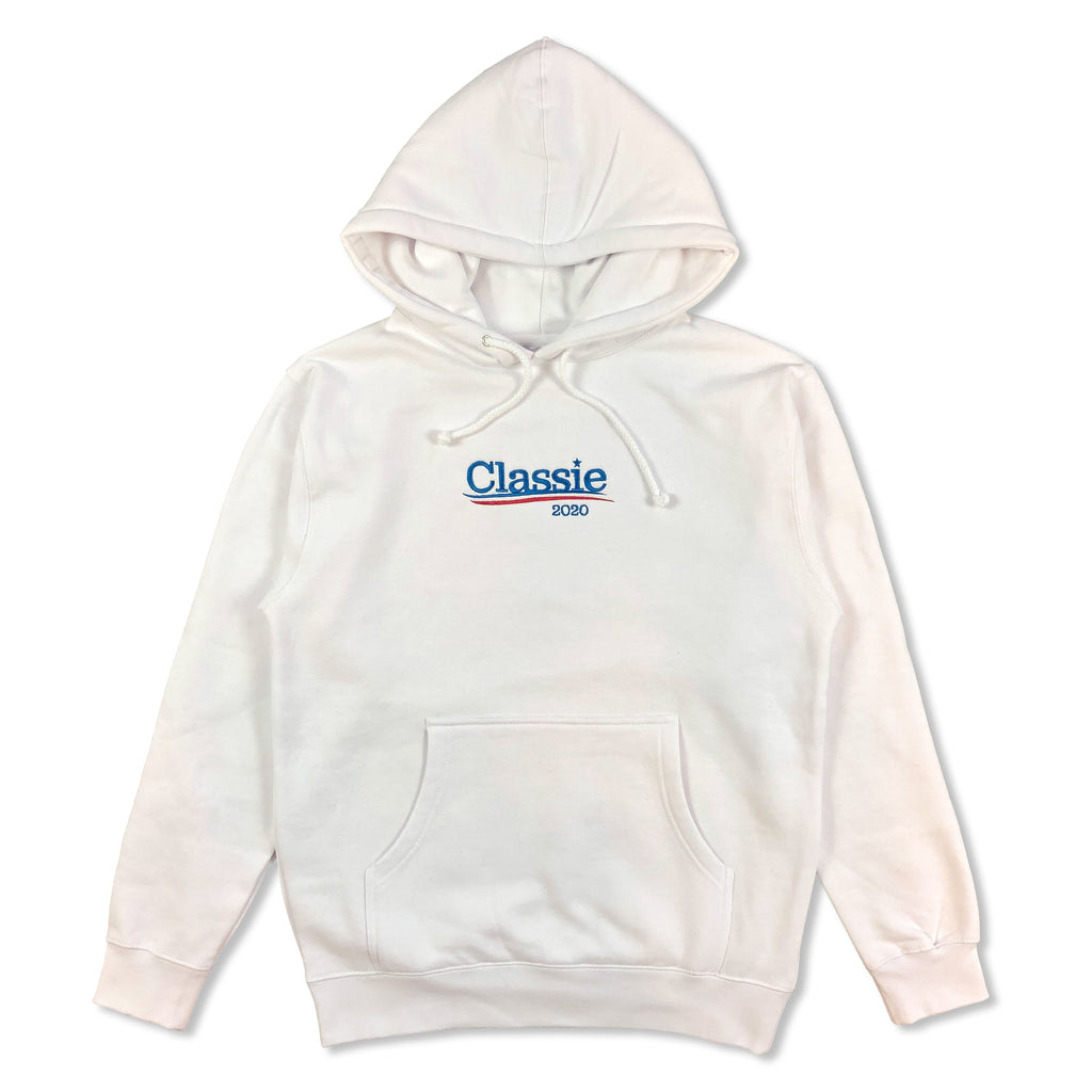 """Presidential"" Embroidered Hoodie (White)"