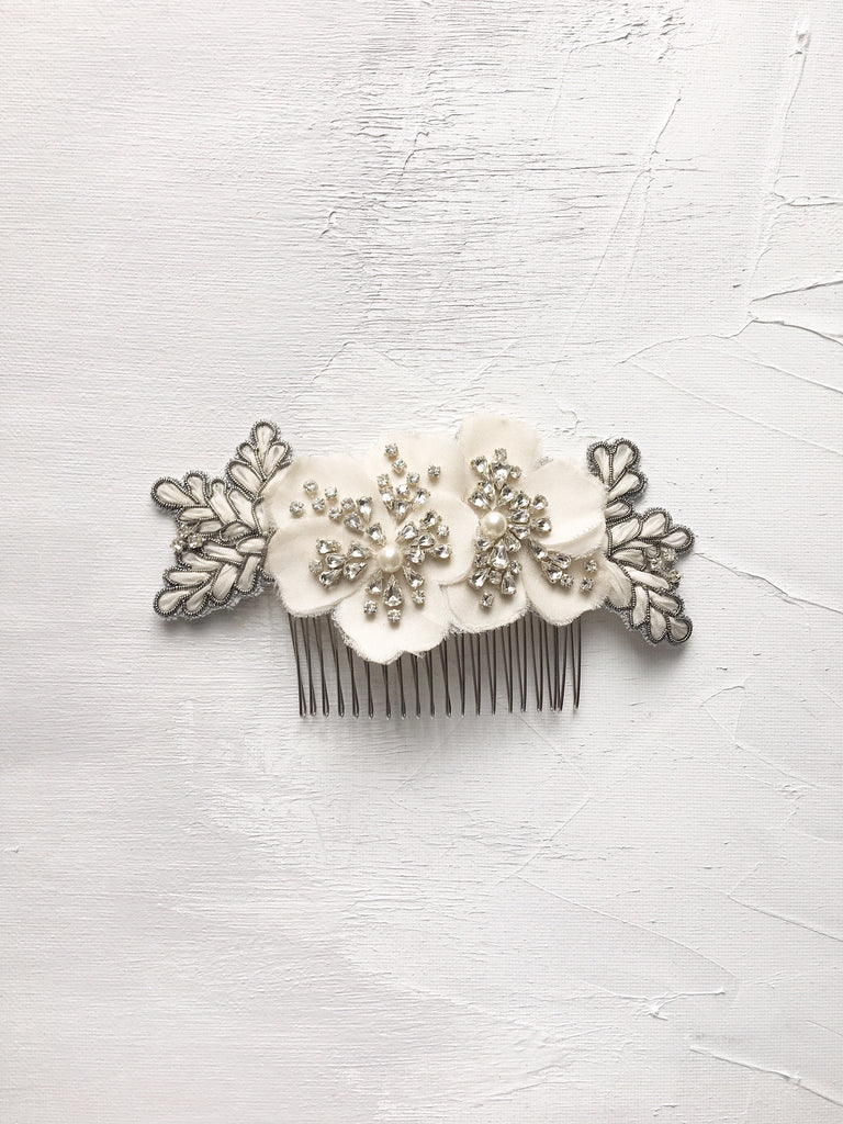 Pansies Hair Comb