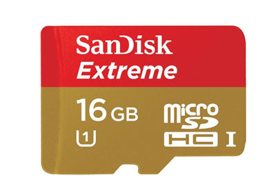 SanDisk 16GB Extreme Micro SDHC UHS-I Card -80mbs