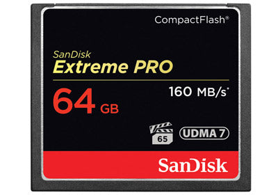SanDisk 64GB Extreme Pro Compact Flash - 160mb/s (SDCFXPS-064G-X46)