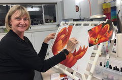 Elizabeth Lemon Studio silk painting tulip