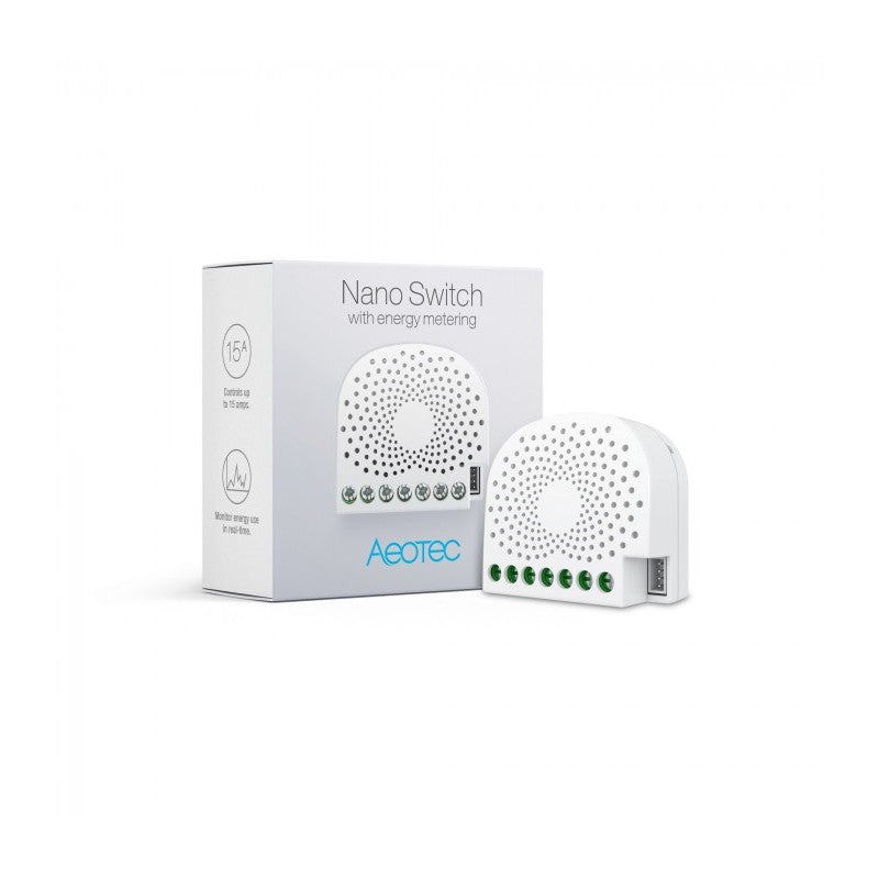 Aeotec Nano Switch Z-Wave Plus com medição de consumos