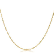 16 Inch Gold Twisted Fashion Chain