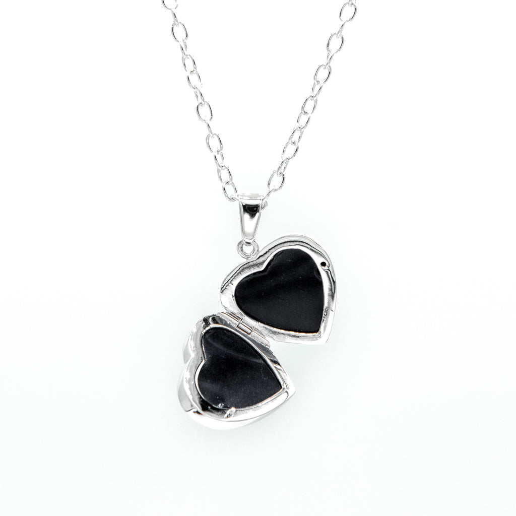 Heart Locket on Cable Chain, Sterling Silver - RL200