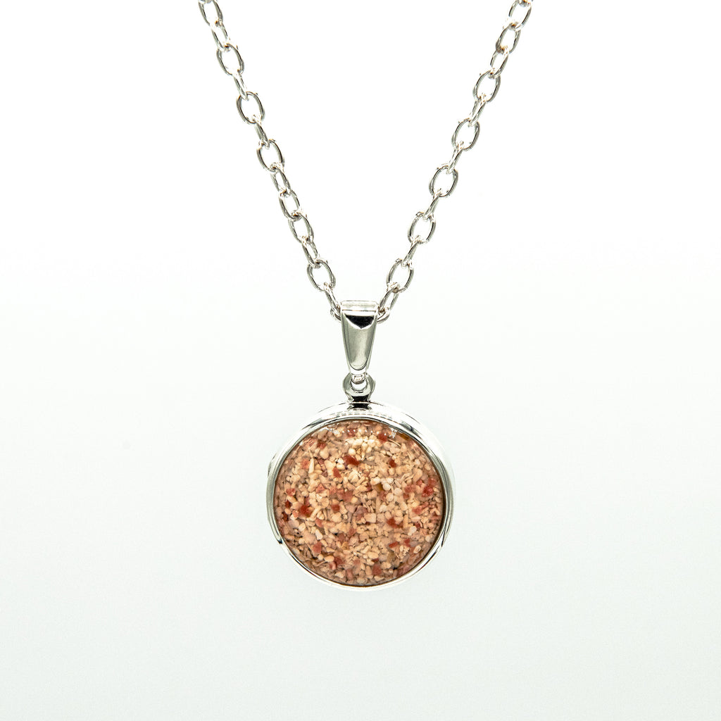 Round Locket on Cable Chain, Sterling Silver - RL201