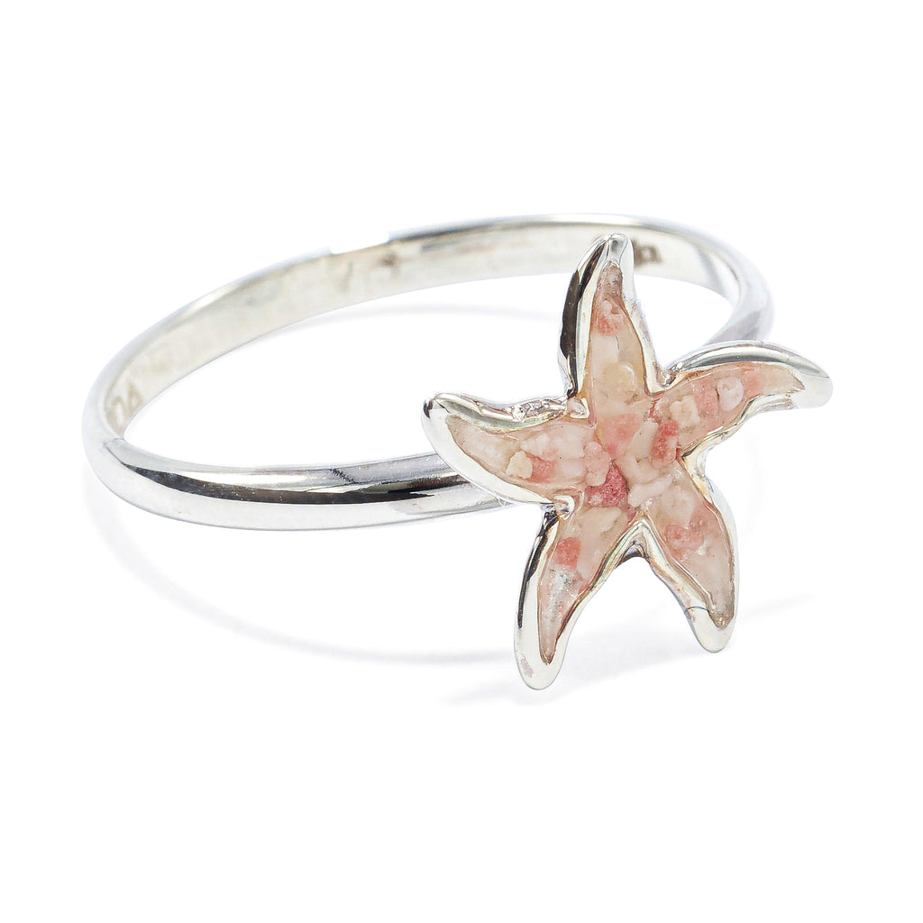 Sterling Silver Starfish Ring - BS476