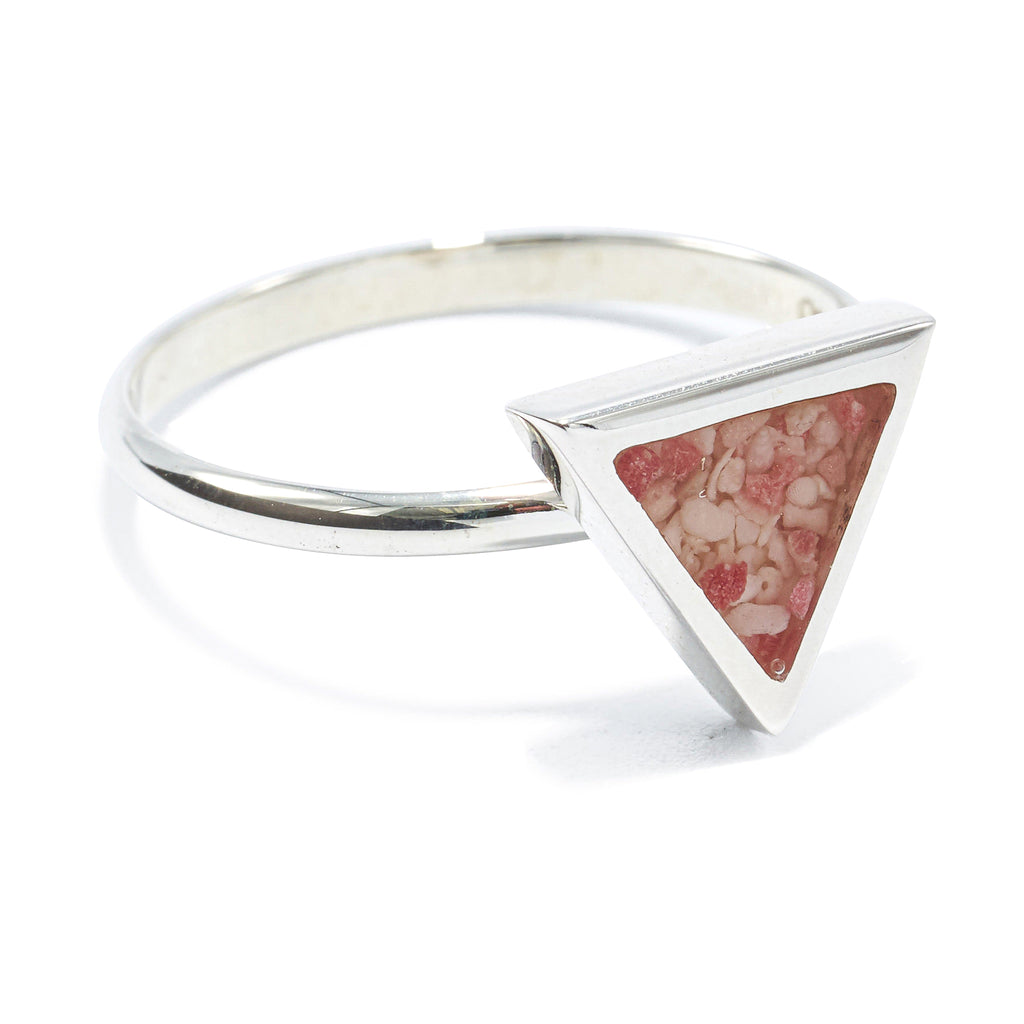 Sterling Silver Triangle ring - BS477