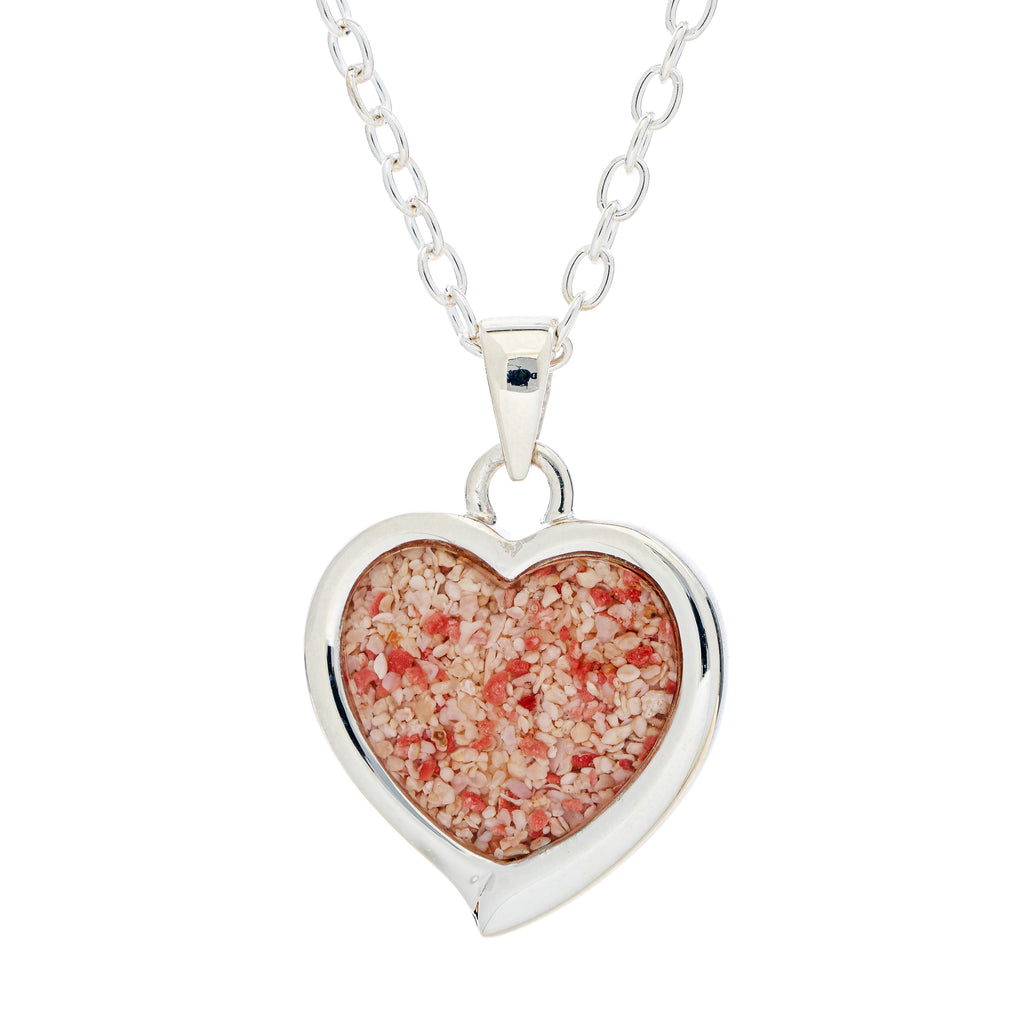 Heart Pendant on Cable Chain, Sterling Silver - TN527