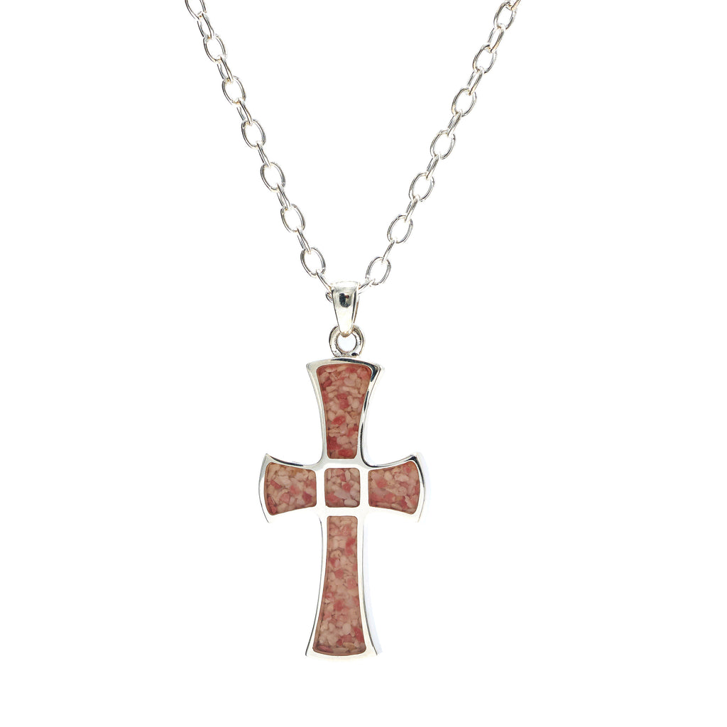 Sterling Silver Cross, cable link chain - RR545