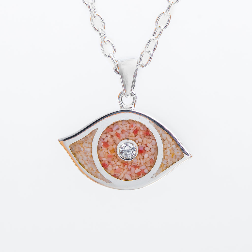 Evil Eye, cubic zirconia eye on cable chain - TN547