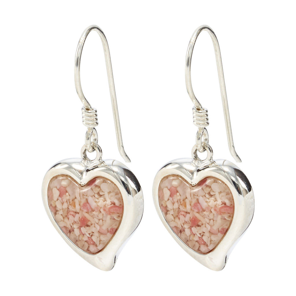 Heart Drop Earrings, Sterling Silver- HPS731