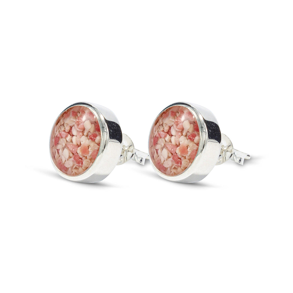 Round Stud Earrings, Sterling Silver - HPS734