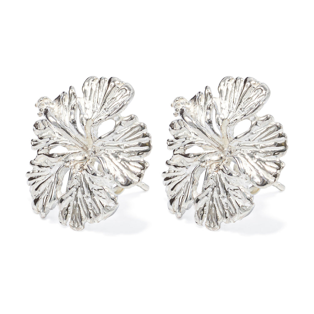 Island Style Hibiscus stud earrings, 6mm - HPS745SML