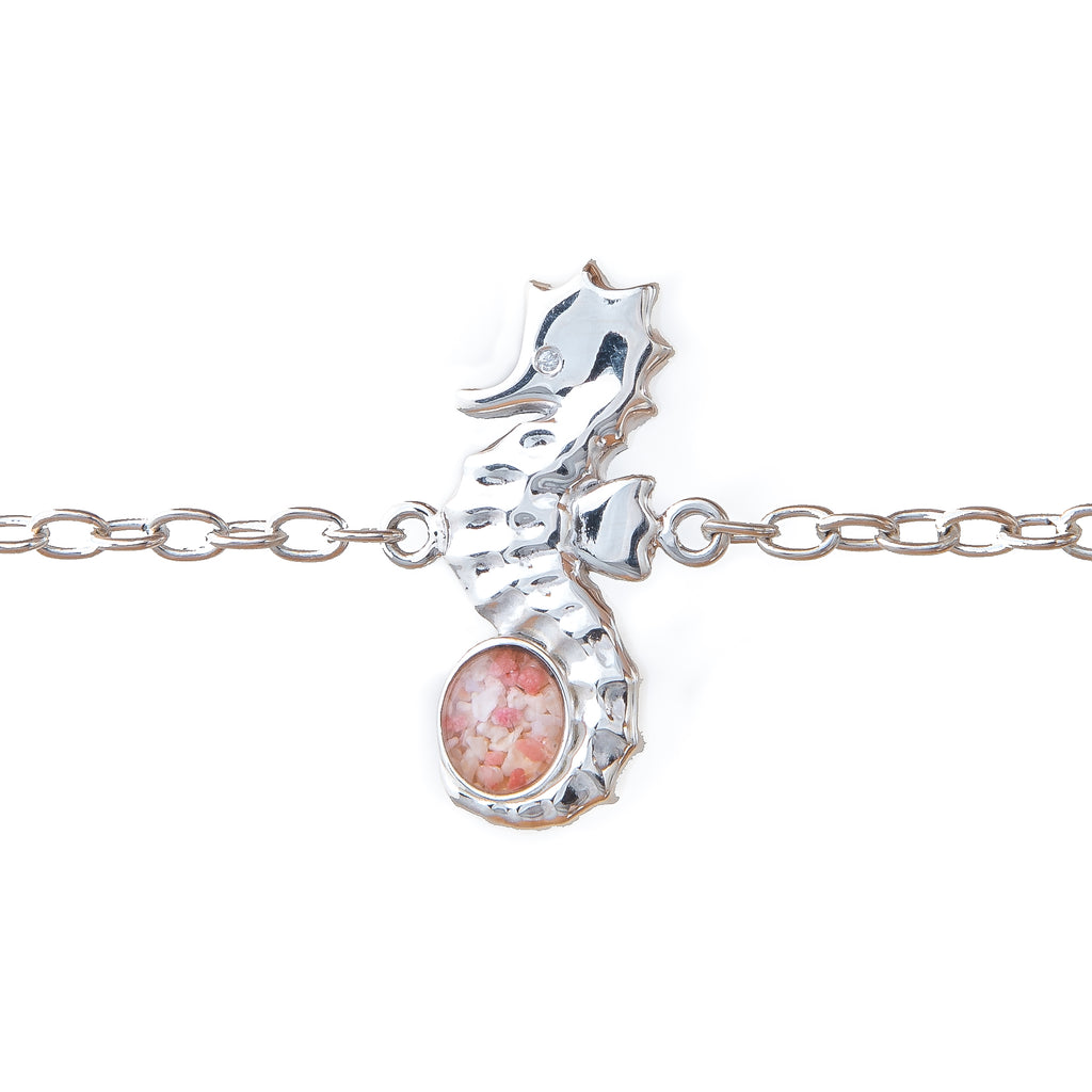 Seahorse Bracelet with Cubic Zirconia Eye, Sterling Silver - TB968