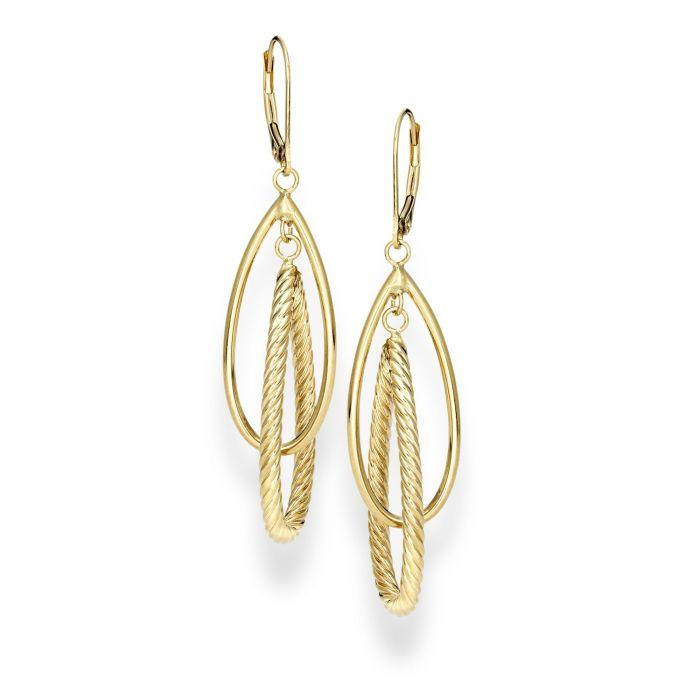 14 Karat Gold Earrings - HG295