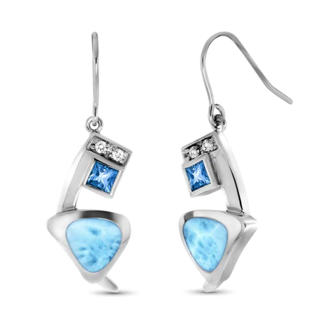 Curva Topaz Drop Earrings - HPS1966TPZ