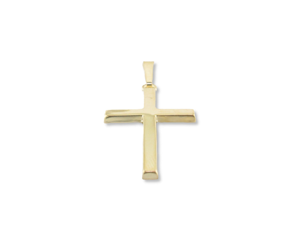 14 Karat Gold Cross Pendant - RR345