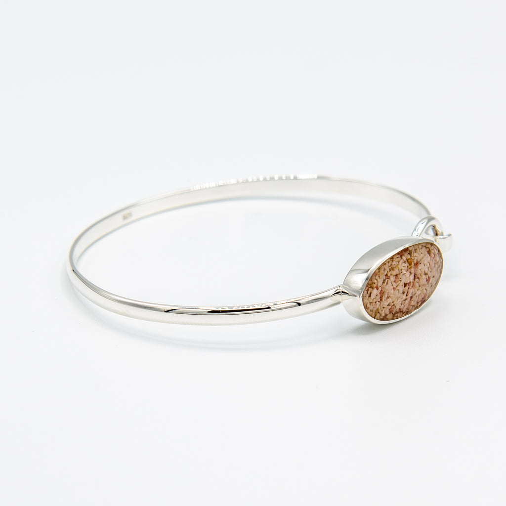 Oval Hook Bangle Sterling Silver - TB984