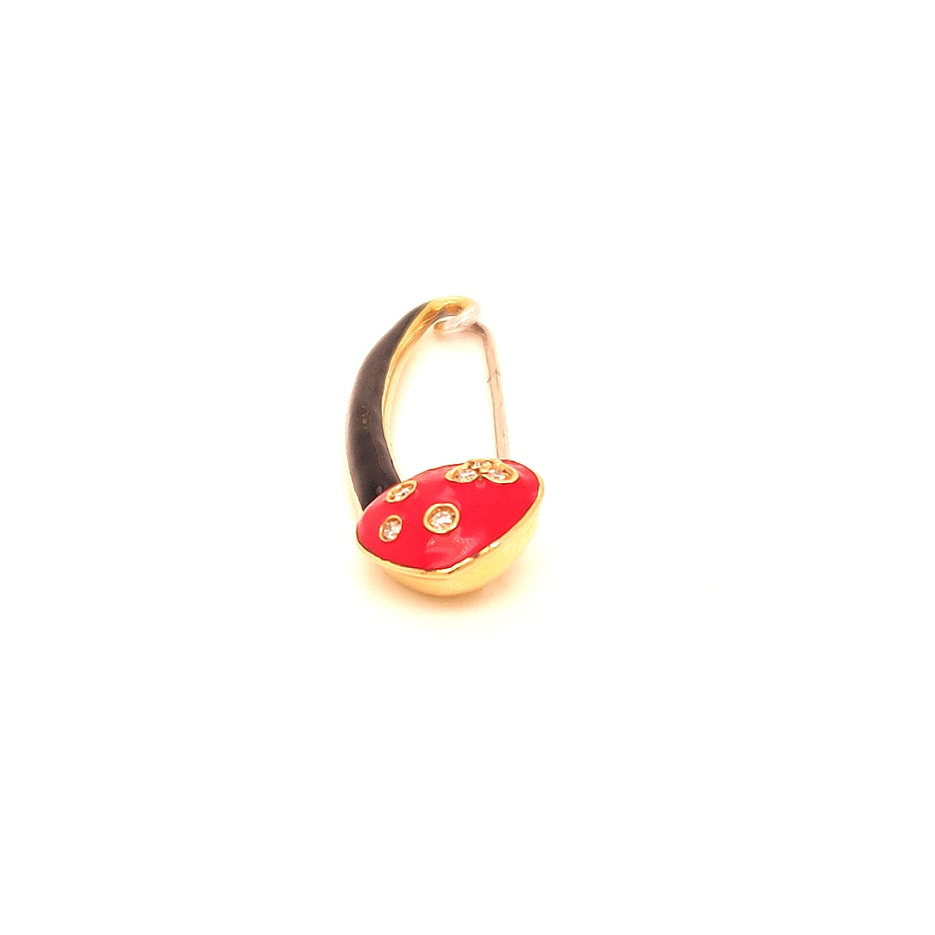 Aaron Basha 18 Karat Love Pin with Enamel and Diamonds - GC633B/R