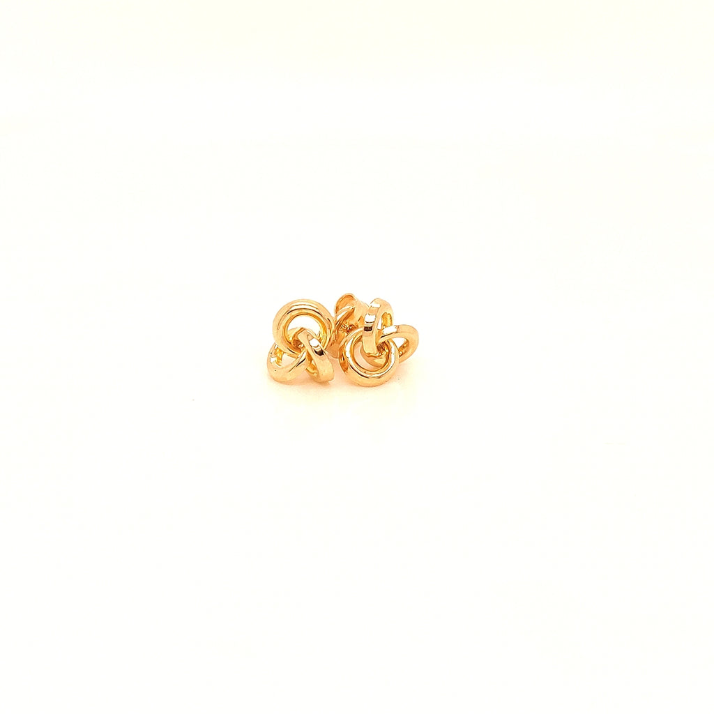 Crisson Original 14 Karat Yellow Gold Knot Earrings - HG1840