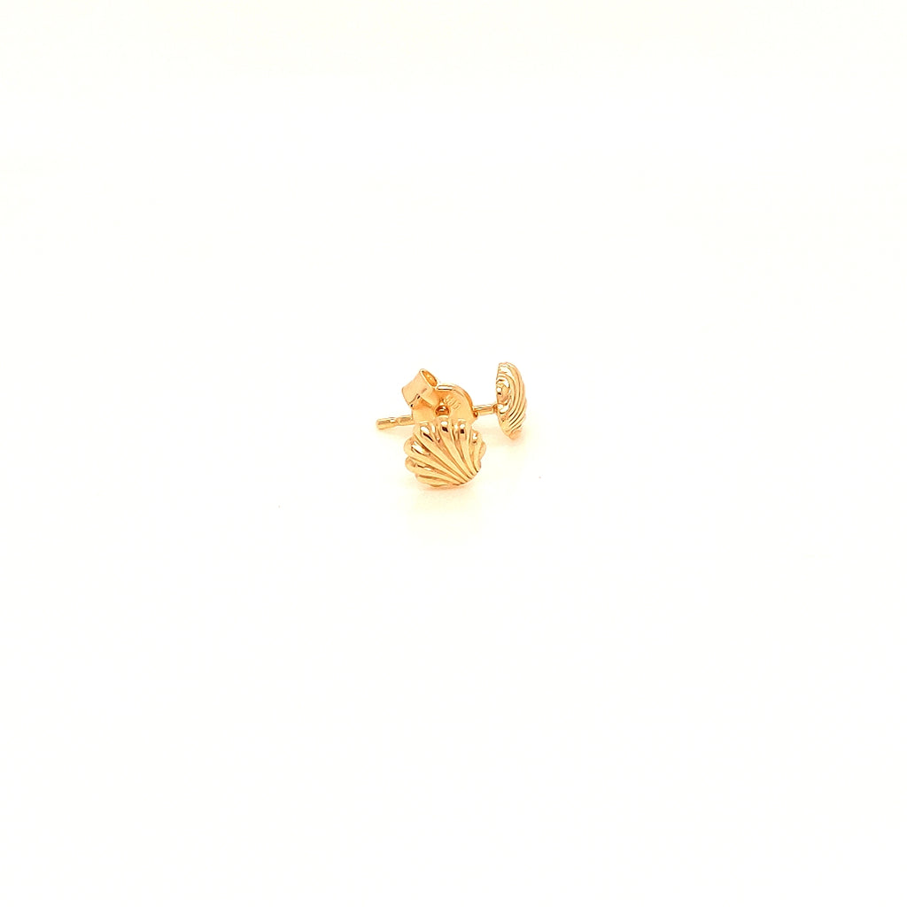 Crisson Original 14 Karat Yellow Gold Shell Studs - HG1858