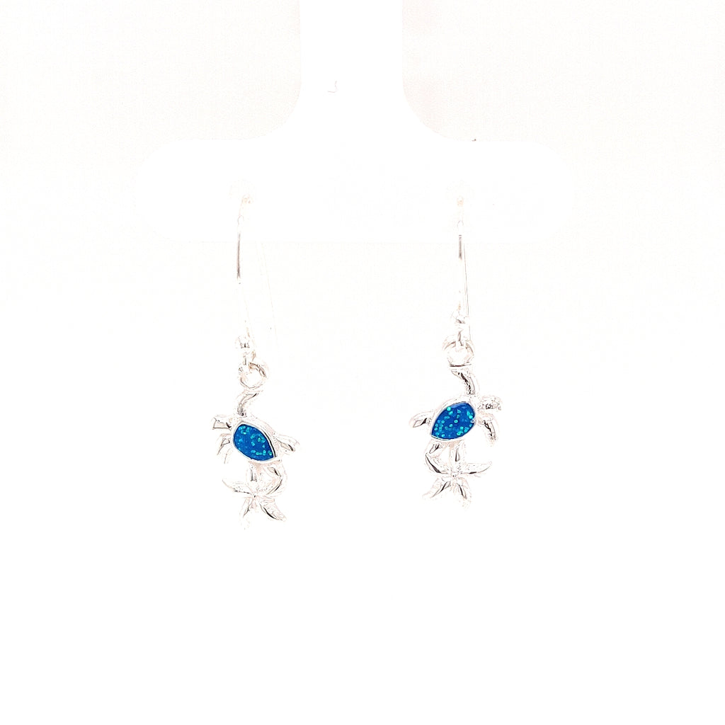Crisson Original Blue Spinel Starfish and Turtle Drop Earrings - HPS1644