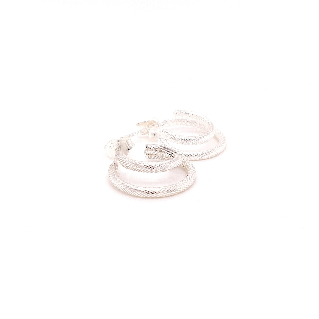 Crisson Original Double Rope Hoop Studs - HPS1657